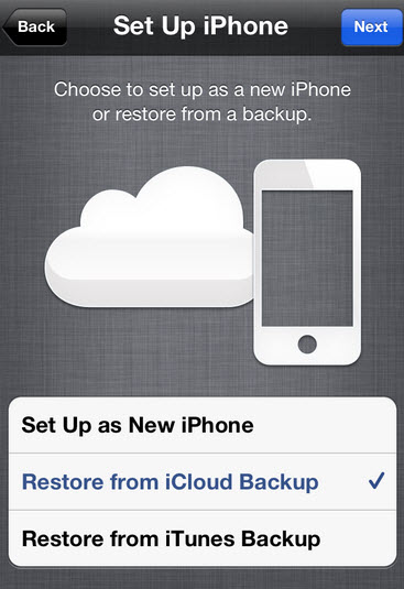 back up your iPhone with icloud