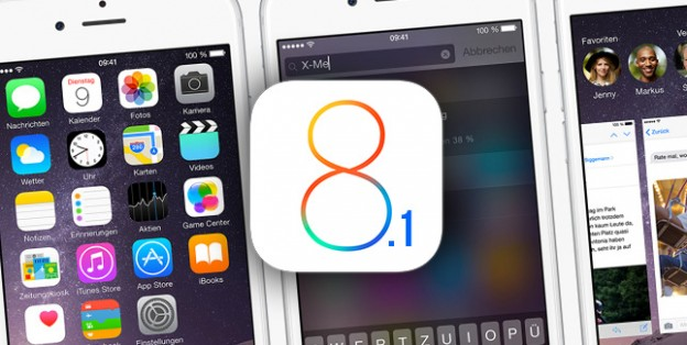 iOS 8.1 operating system on devices